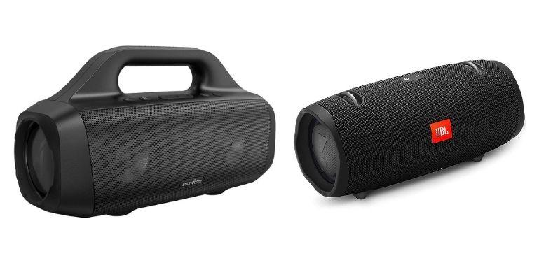 Anker Soundcore Motion Boom vs JBL Xtreme 2 design