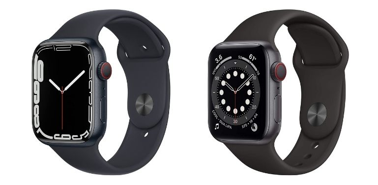 Apple Watch 7 vs 6 design