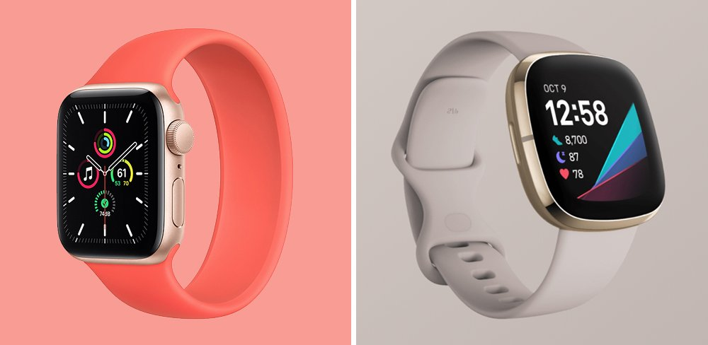 Apple Watch SE vs Fitbit Sense Smartwatch Comparison
