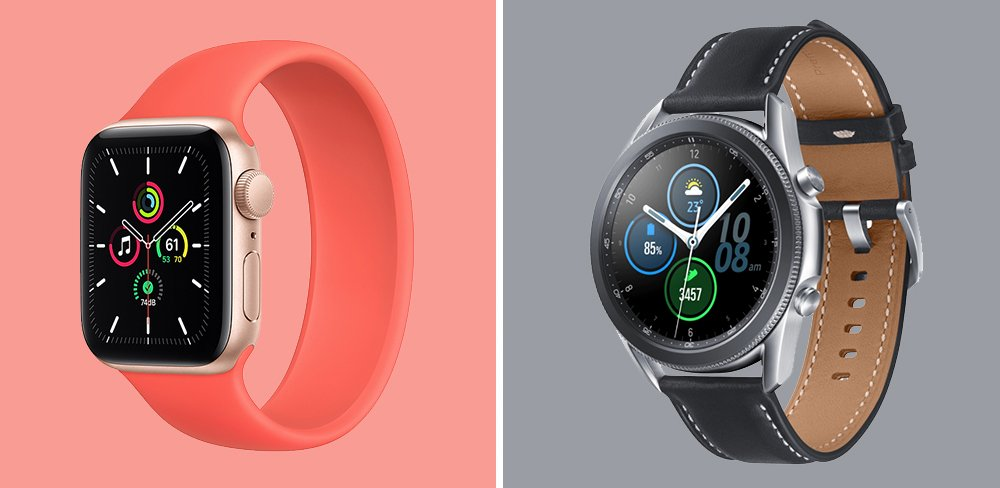 Apple Watch SE vs Galaxy Watch3 Fitness Smartwatch Comparison