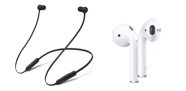 Beats Flex vs Apple AirPods design