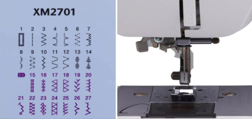 Brother XM2701 vs SM2700 sewing features