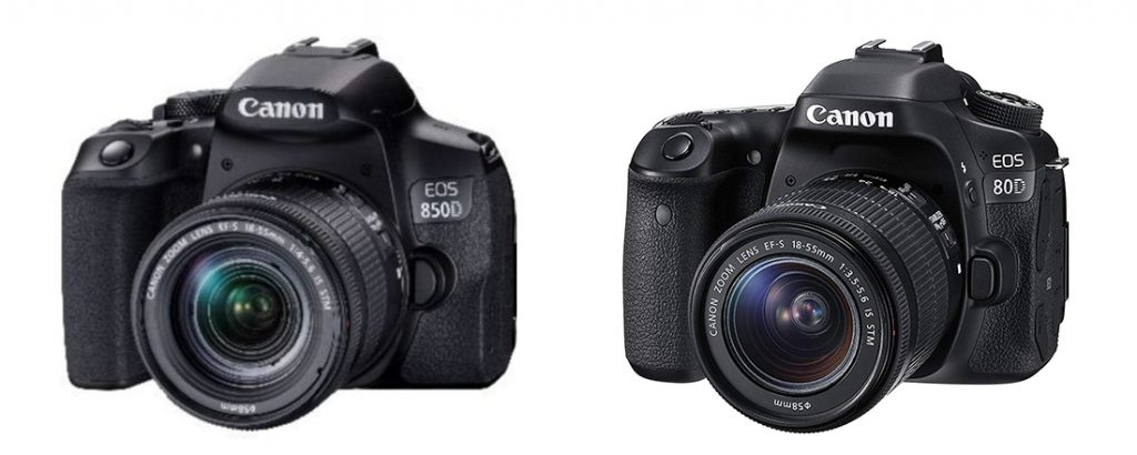 Canon EOS 850D vs 80D Design
