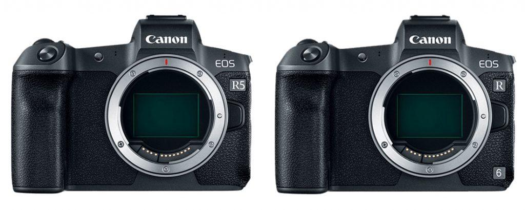 Canon EOS R5 vs R6 Design
