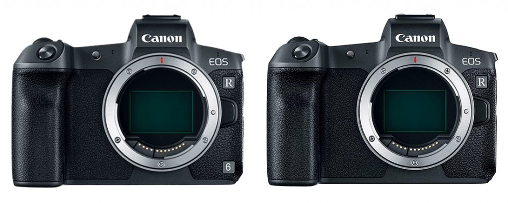 Canon EOS R6 vs R Design