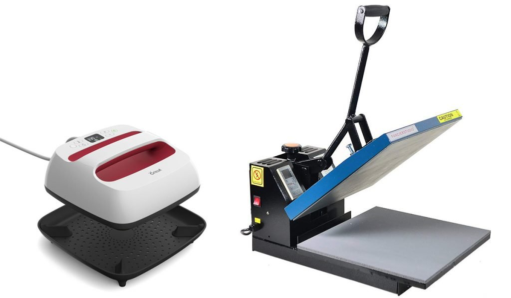 Cricut EasyPress vs Heat Press Design and Size