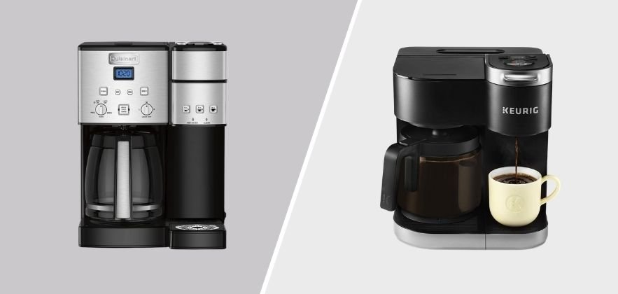 Cuisinart vs Keurig Single Serve Coffee Maker featured image comparing the two coffee machines