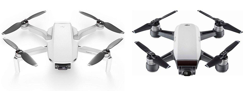DJI Mavic Mini vs Spark Drone Design
