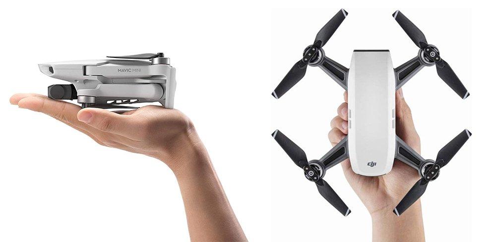 DJI Mavic Mini vs Spark Drone Comparison