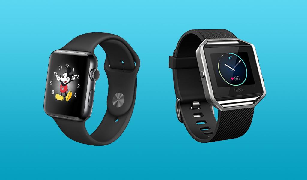Fitbit Blaze vs Apple Watch Design