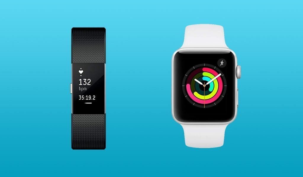 Fitbit Charge 2 vs Apple Watch Design