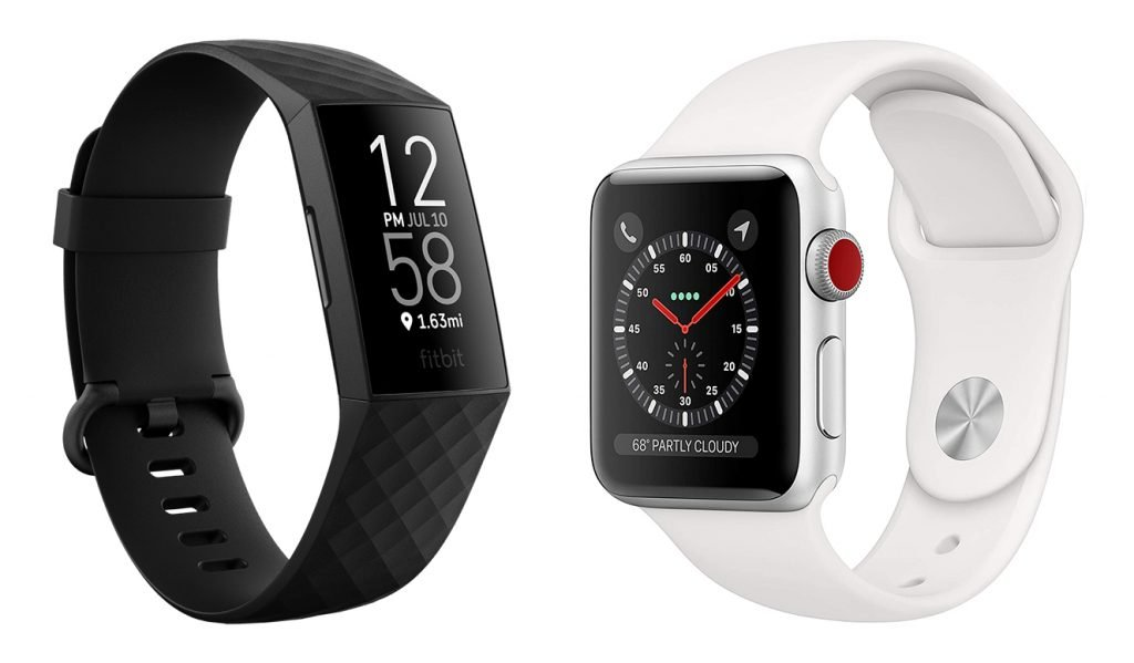 Fitbit Charge 4 vs Apple Watch 3 Fitness Tracker Design