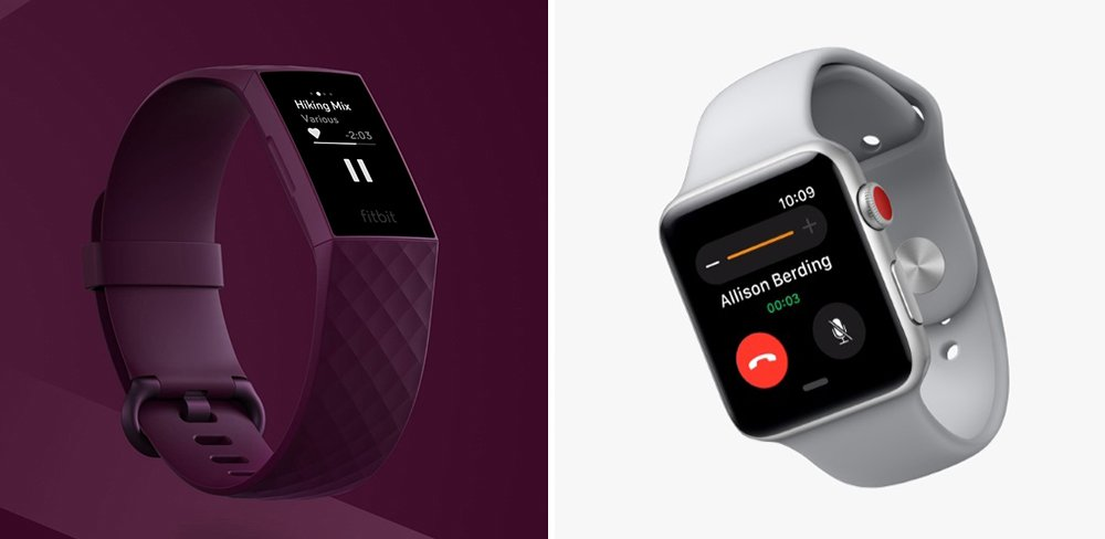 Fitbit Charge 4 vs Apple Watch 3 Fitness Tracker Comparison