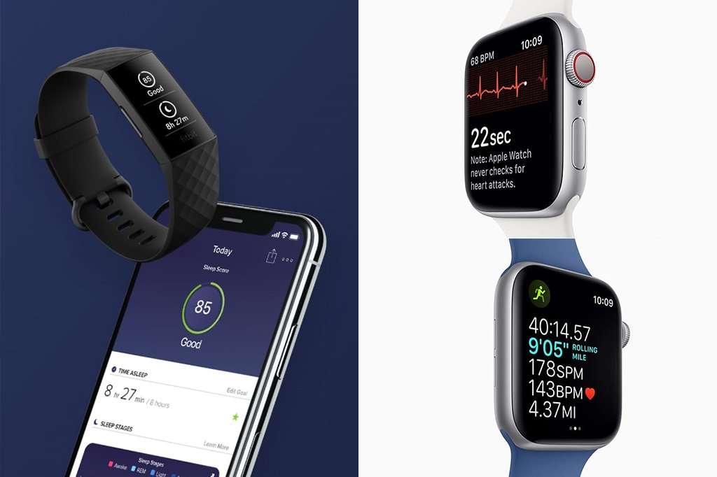 Fitbit Charge 4 vs Apple Watch 4 Fitness Smartwatch Activity Tracking