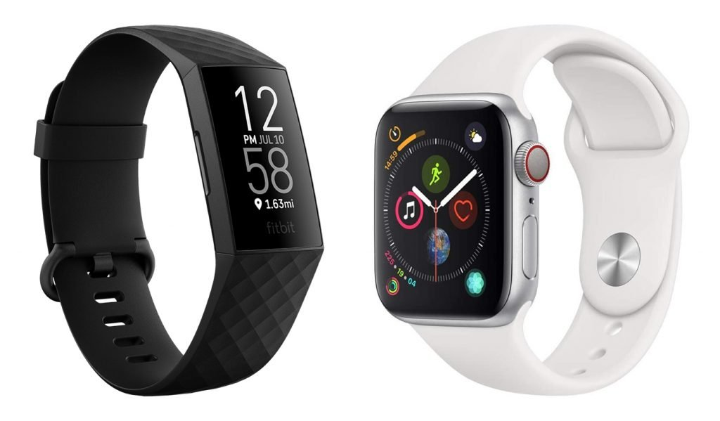 Fitbit Charge 4 vs Apple Watch 4 Fitness Smartwatch Design