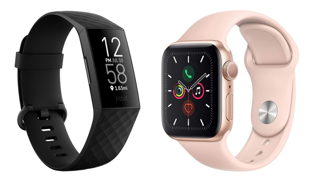 Fitbit Charge 4 vs Apple Watch 5 Fitness Smartwatch Design