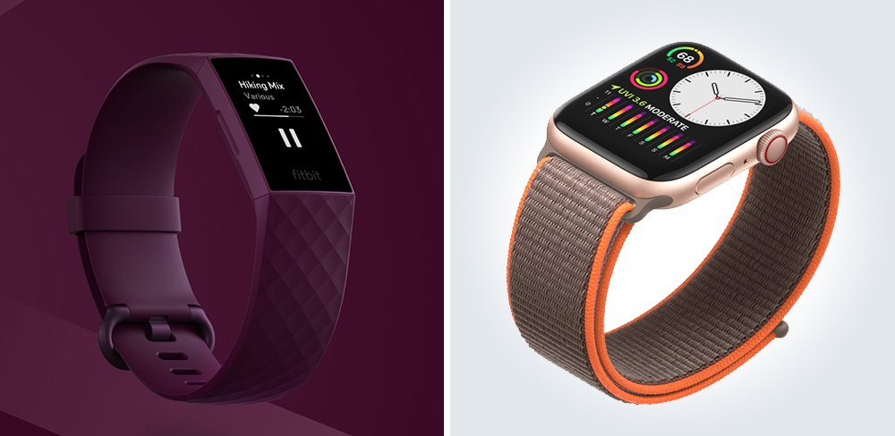 Fitbit Charge 4 vs Apple Watch 5 Fitness Smartwatch Comparison