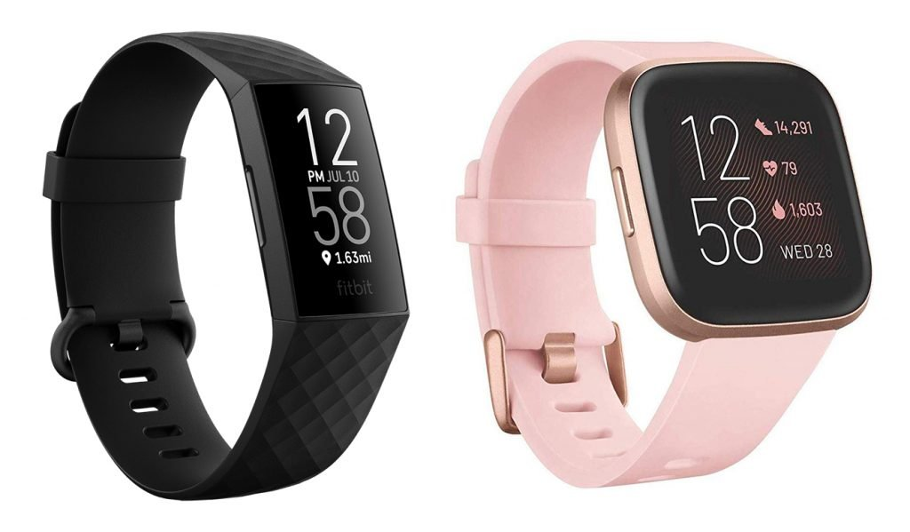 Fitbit Charge 4 vs Versa 2 Fitness Tracker Design