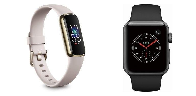 Fitbit Luxe vs Apple Watch design