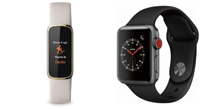 Fitbit Luxe vs Apple Watch fitness features