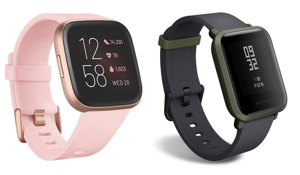 Fitbit Versa 2 vs Amazfit Bip Fitness Smartwatch Design