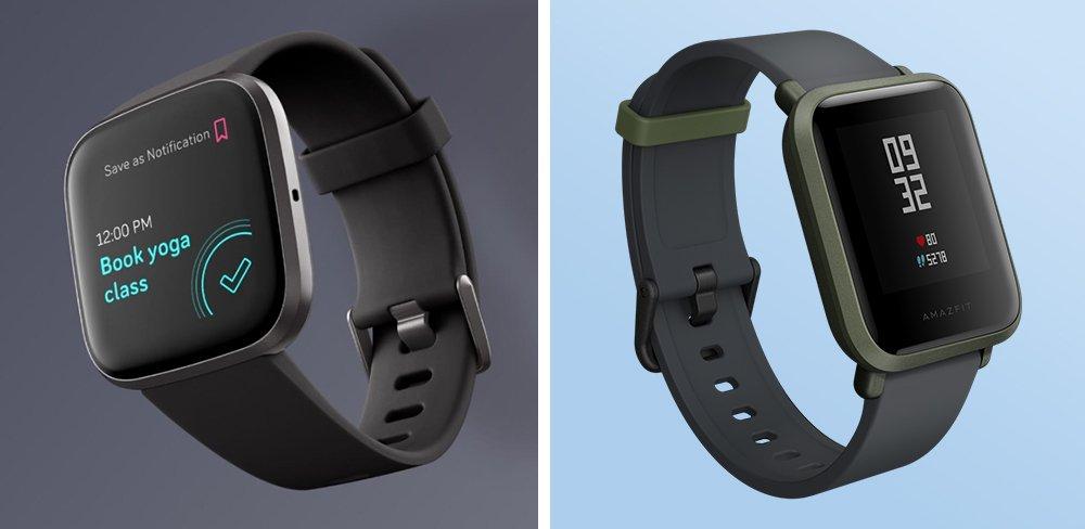 Fitbit Versa 2 vs Amazfit Bip Fitness Smartwatch Comparison