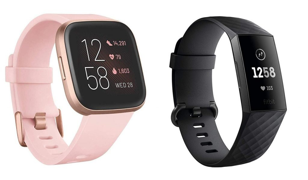 Fitbit Versa 2 vs Charge 3 Fitness Tracker Design