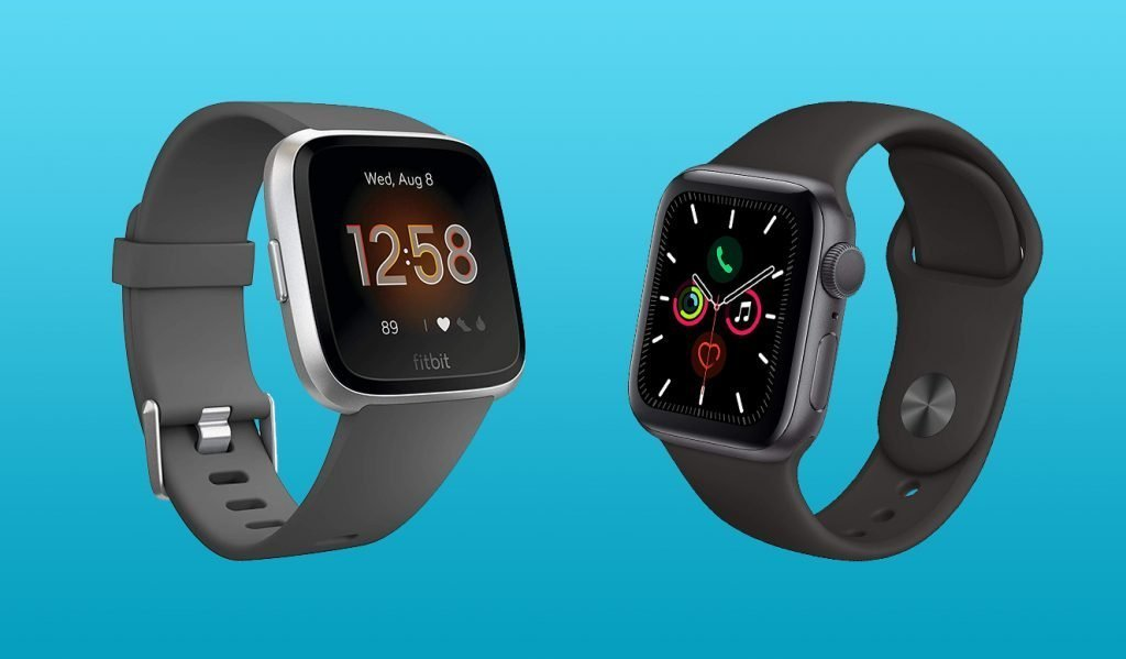 Fitbit Versa Lite vs Apple Watch 5 Design