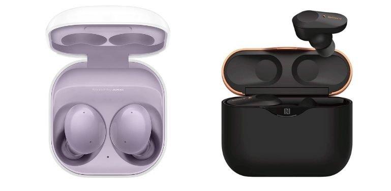 Galaxy Buds 2 vs Sony WF1000XM3 design