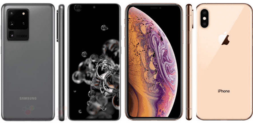 Samsung Galaxy S20 Ultra vs iPhone XS