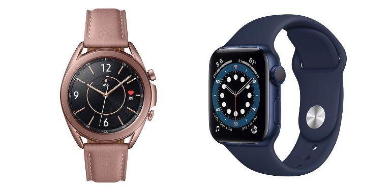 Galaxy Watch 3 vs Apple Watch 6 design