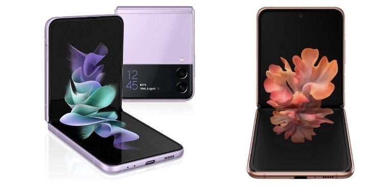 Galaxy Z Flip 3 vs Z Flip 5G design