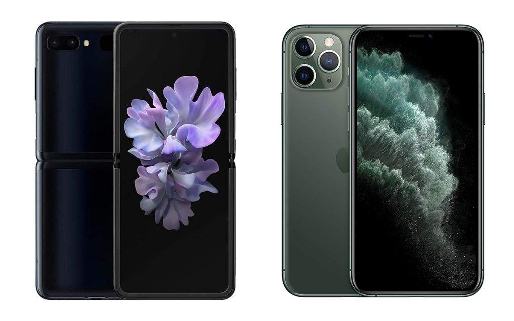Galaxy Z Flip vs iPhone 11 Pro Max Design