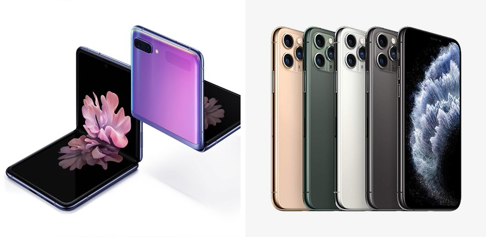 Galaxy Z Flip vs iPhone 11 Pro Comparison