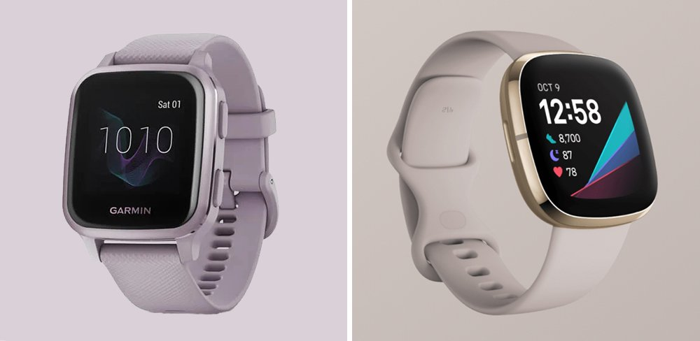 Garmin Venu Sq vs Fitbit Sense Smartwatch Comparison