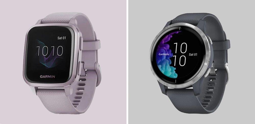 Garmin Venu Sq vs Venu Smartwatch Comparison
