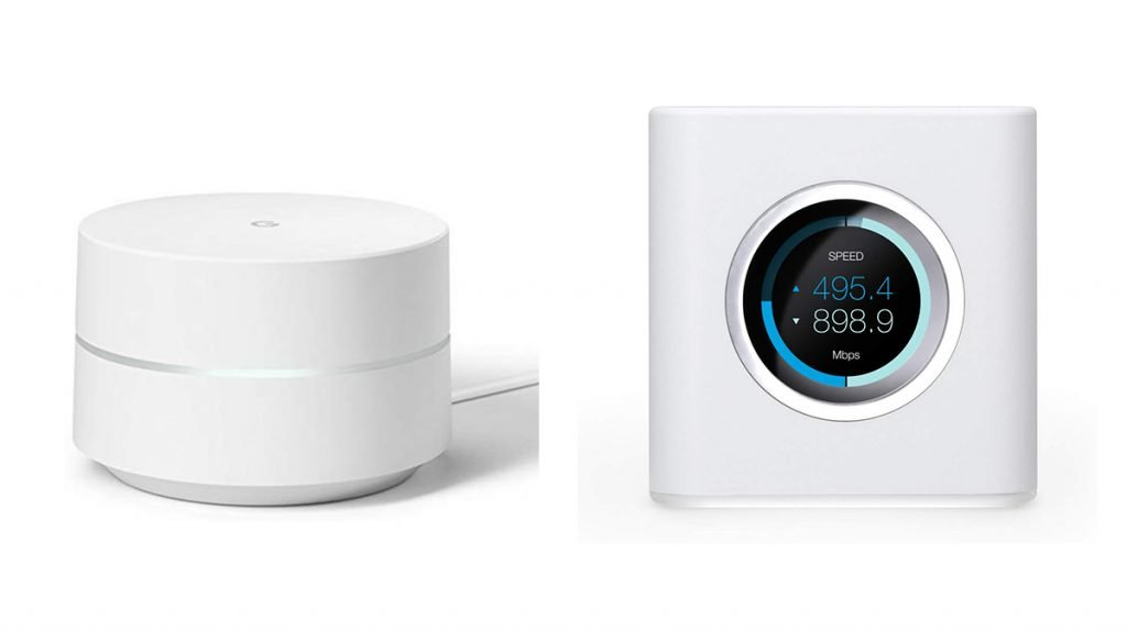 Google Wifi vs Ubiquiti AmpliFi HD Mesh WiFi Router Design