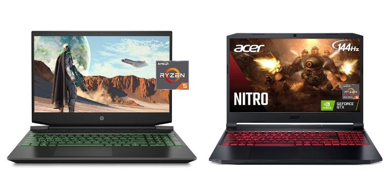 HP Pavilion vs Acer Nitro 5 design