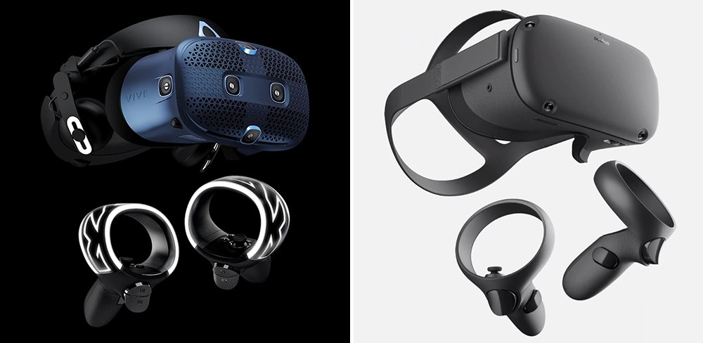 HTC VIVE Cosmos vs Oculus Quest VR Headset Comparison