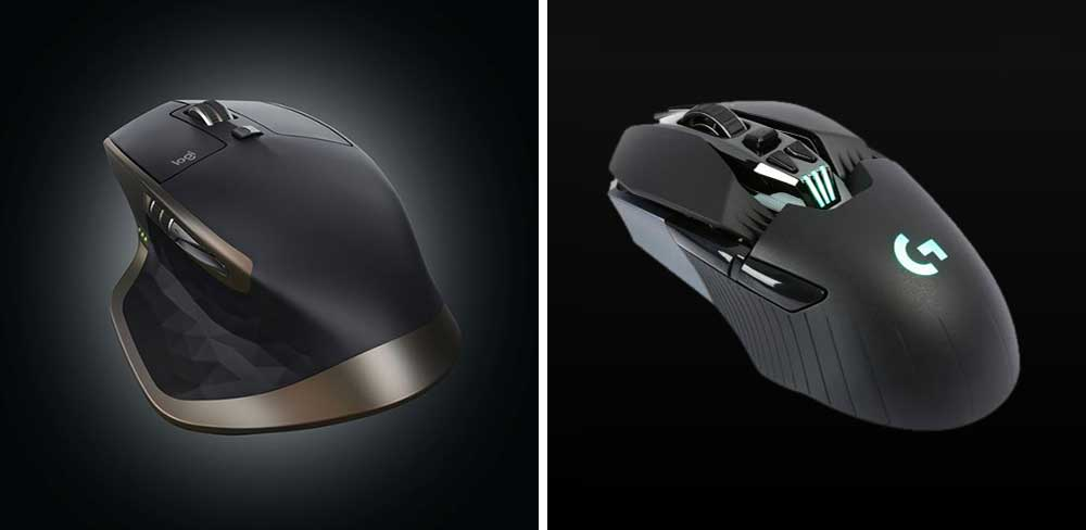 Logitech MX Master vs G900 Wireless Mouse Comparison