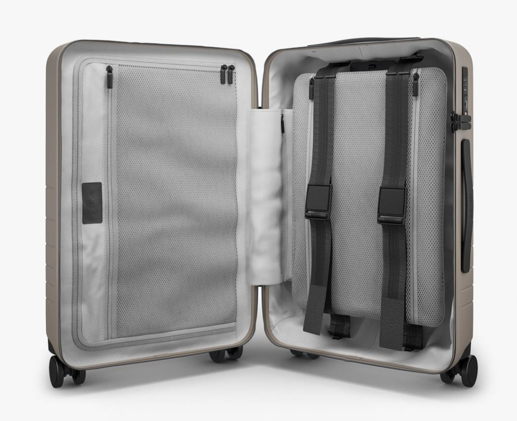 Monos Luggage vs Away Carry-On Storage