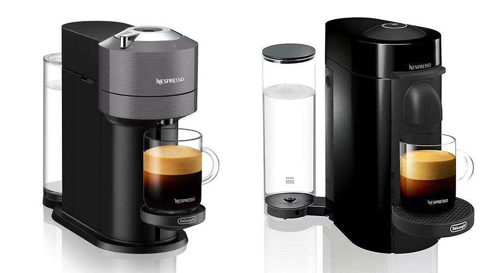 Nespresso Vertuo Next vs Plus - Design