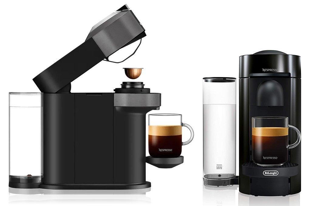 Nespresso Vertuo Next vs Plus - Features