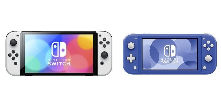 Nintendo Switch OLED vs Lite design