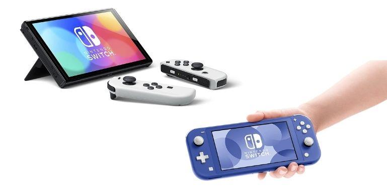 Nintendo Switch OLED vs Lite display