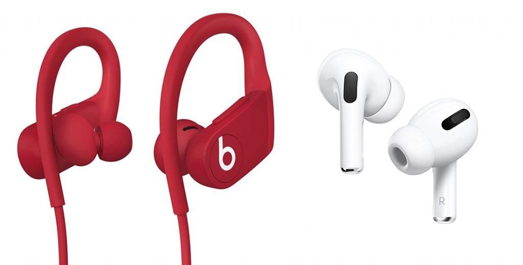 Powerbeats 4 vs AirPods Pro Wireless Earphones Design