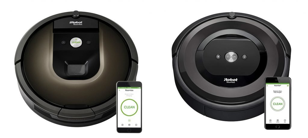 Roomba 985 vs e5 Design