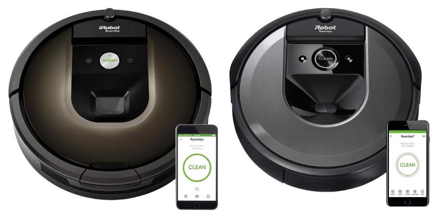 Roomba 985 vs i7 design