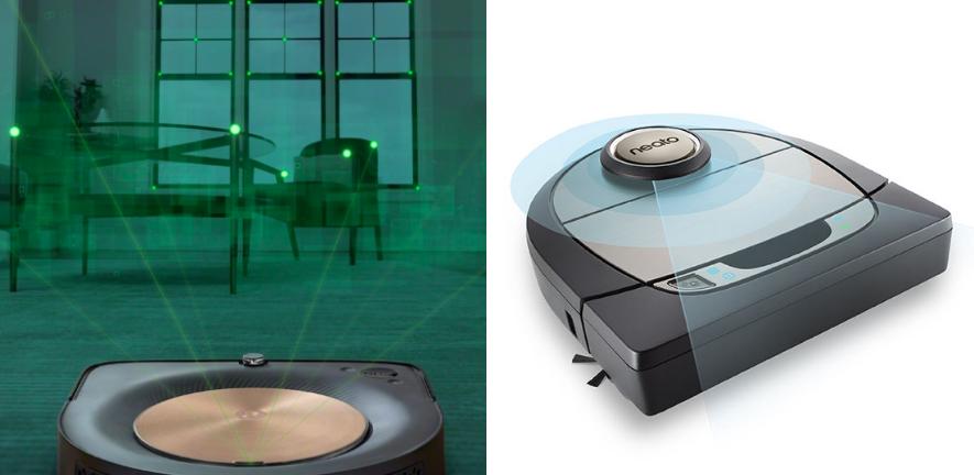 Roomba vSLAM vs Neato Lidar