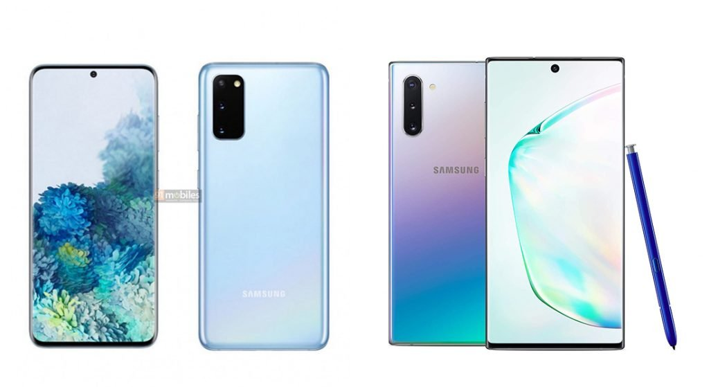 Samsung Galaxy S20 5G vs Galaxy Note 10 5G Design